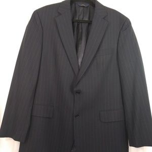 Brooks Brothers 346 Gray Pinstripe Suit Jacket 44L